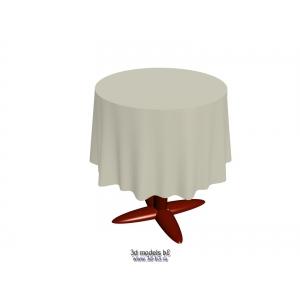 Стол круглый со скатертью