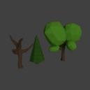 Дерево, дерево без листвы, ель