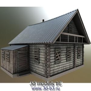 Модель заброшенной деревенской избы