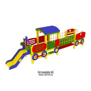 """Детский игровой комплекс """"поезд"""""""