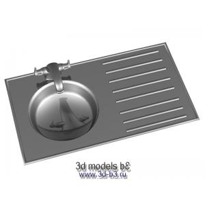 Модель мойки кухонной бытовой