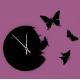 Часы ч бабочками