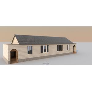 Дом деревянный двухквартирный