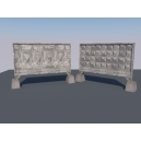 Набор бетонных заборов